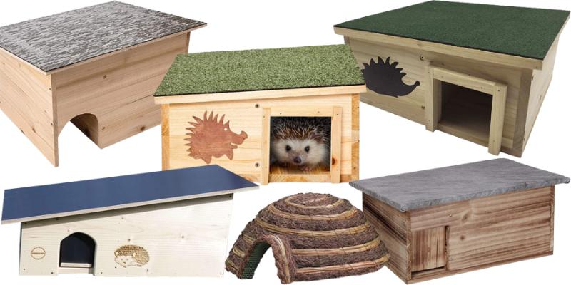Eine Auswahl an idealen Igelhäusern für Deinen Garten