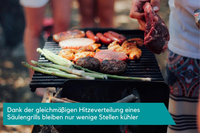 Fleisch und Gemüse auf dem Grillrost