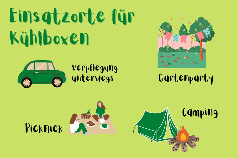 Infografik: Einsatzorte für Kühlboxen