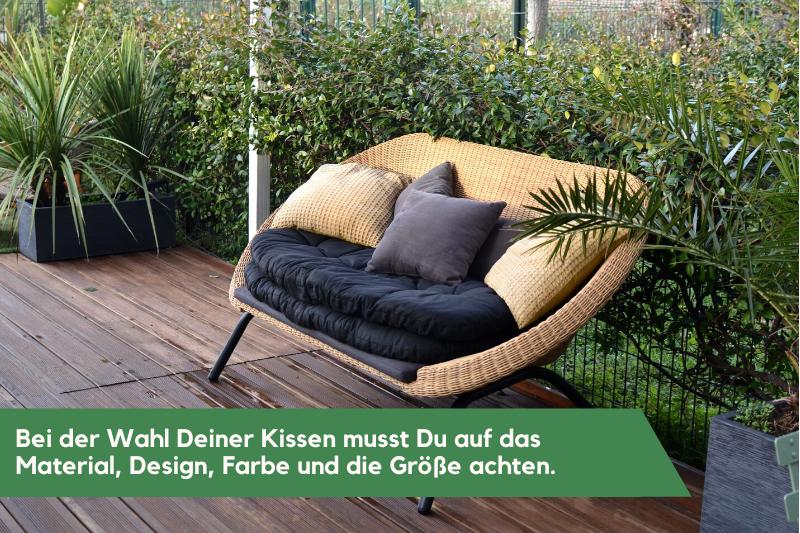 Bei der Wahl eines Gartenkissens ist auf einige Kriterien zu achten.