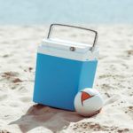 Kühlbox am Strand