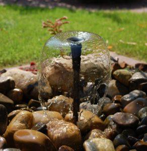Teichpumpe mit Wasserspiel