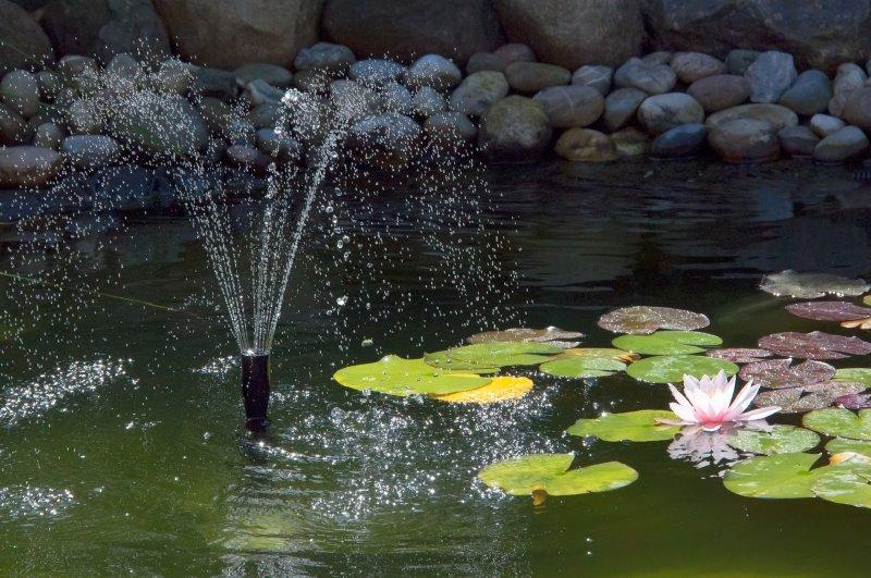 Wasserspielpumpe mit Strahlenfontäne
