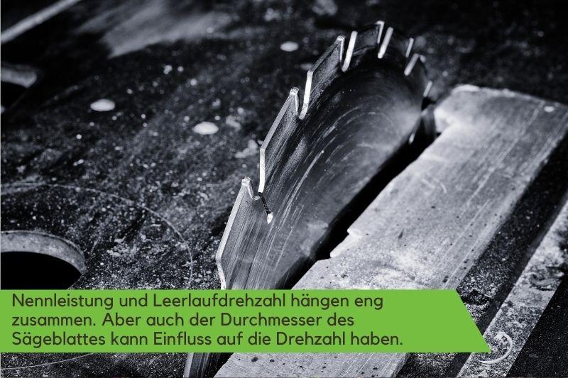 Sägeblatt in Nahaufnahme